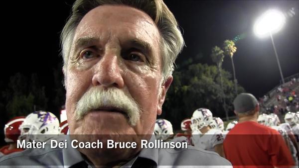 Mater Dei Coach Bruce Rollinson has his team at 5-0. (Eric Sondheimer)