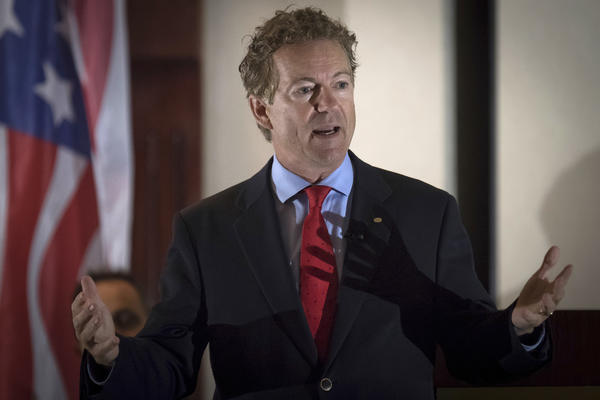 Sen. Rand Paul has expressed opposition to the bill. (Bryan Woolston / Associated Press)