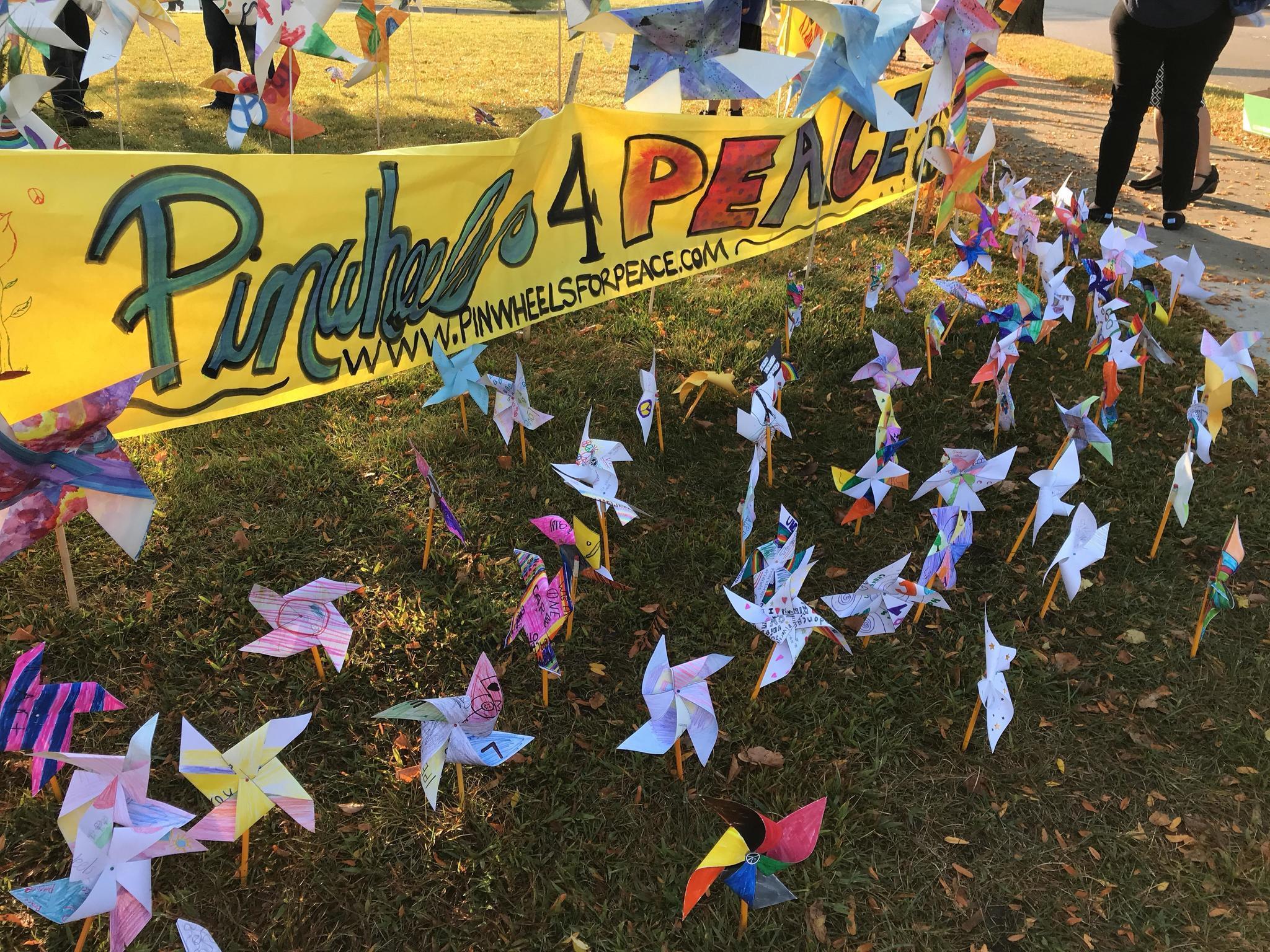 Lincoln Junior High School kids display handmade pinwheels in ...