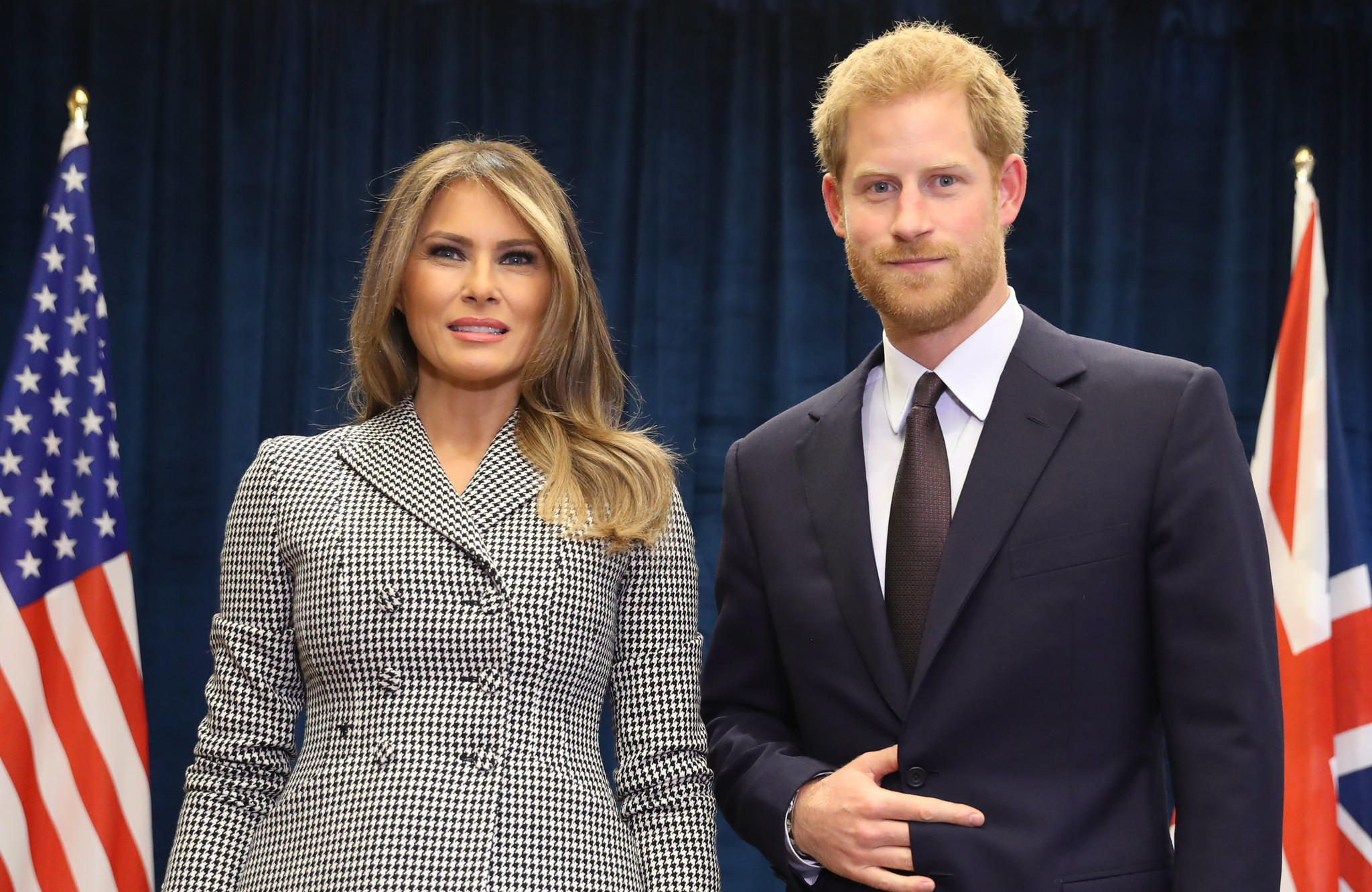 Melania Trump and Prince Harry. (Chris Jackson/Getty Images for the Invictus Games Foundation)