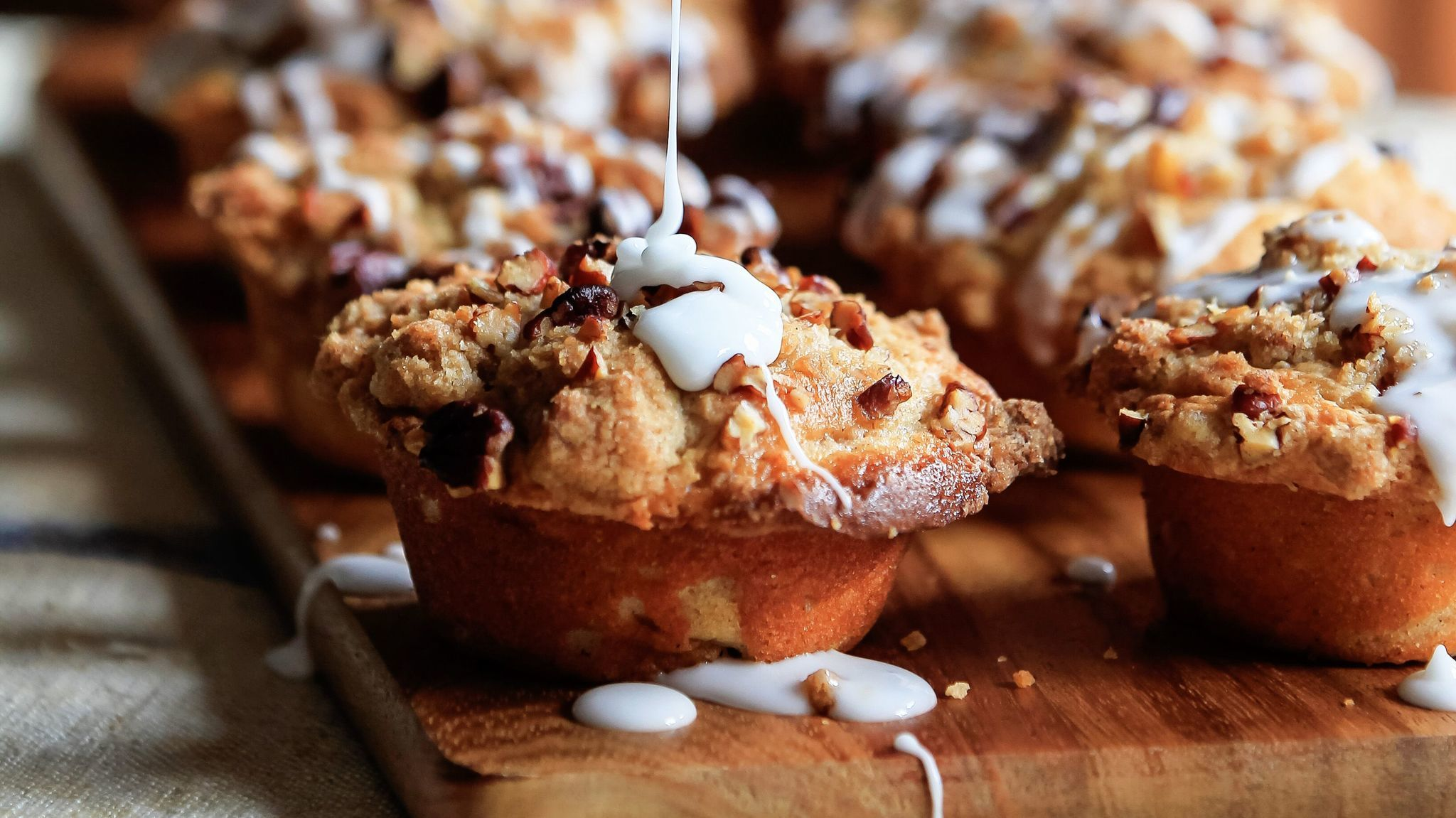 Fresh muffins with fall flavors