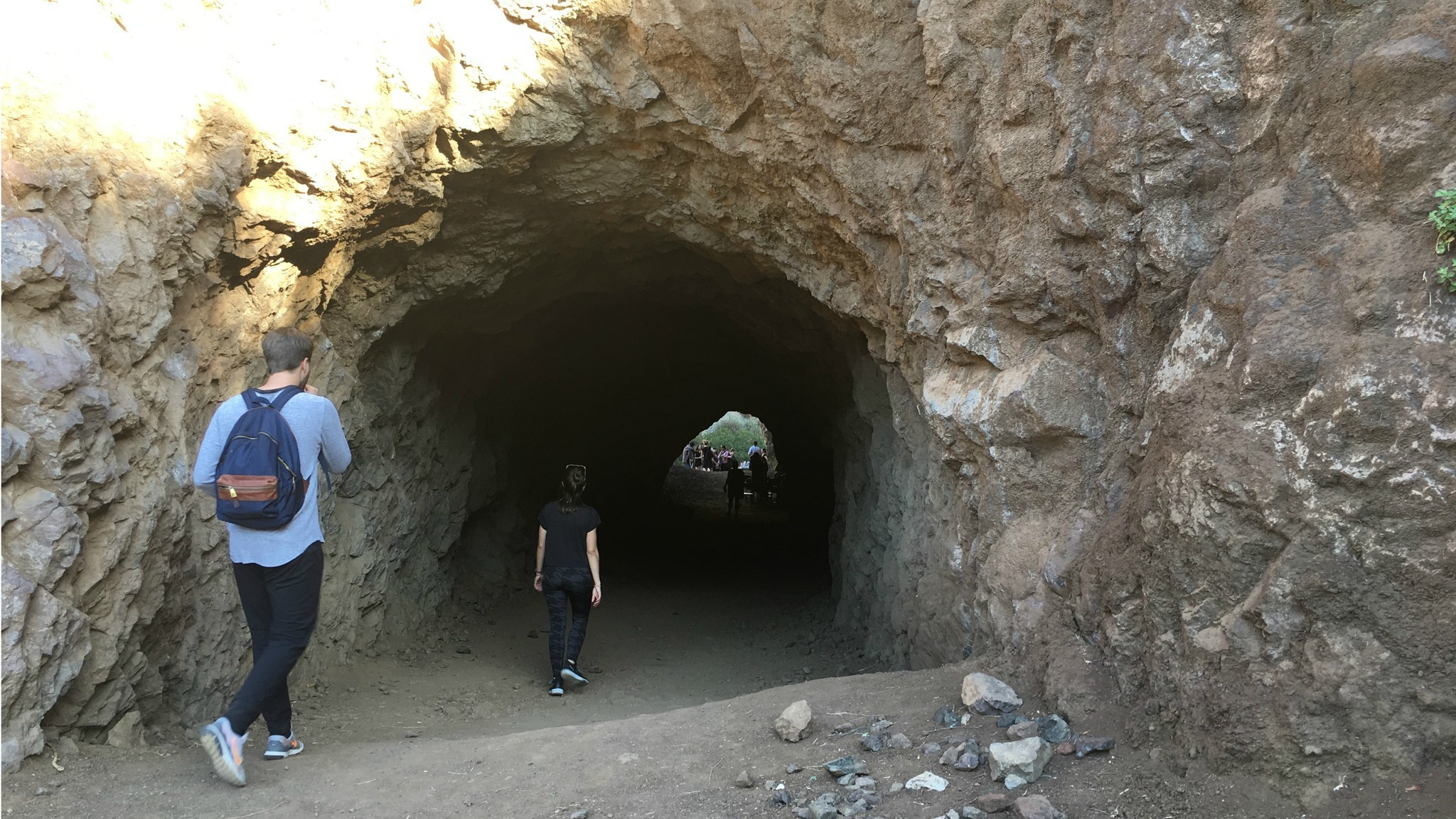 Hikers stumble upon a reading in Griffith Park's Bronson Caves.