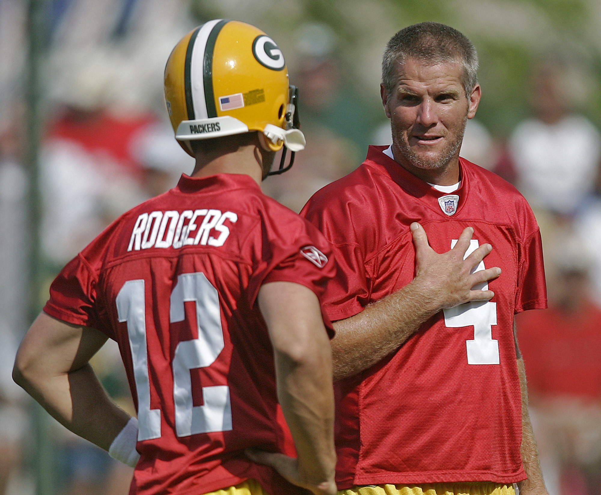 Aaron Rodgers explains benefits for developing a quarterback on