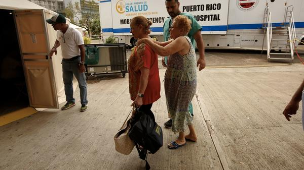 Amid power outages, hospitals pushed to their limits in Puerto Rico