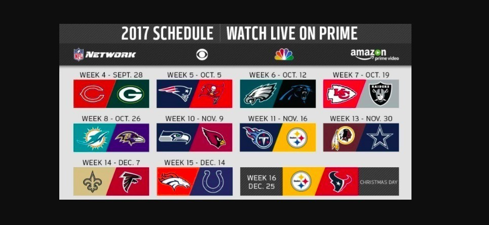 amazon prime members can stream 11 free nfl games through christmas day sun sentinel - Nfl Schedule Christmas Day