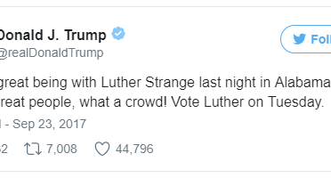 Tired of not winning? Trump deletes his tweets endorsing the losing Senate candidate in Alabama