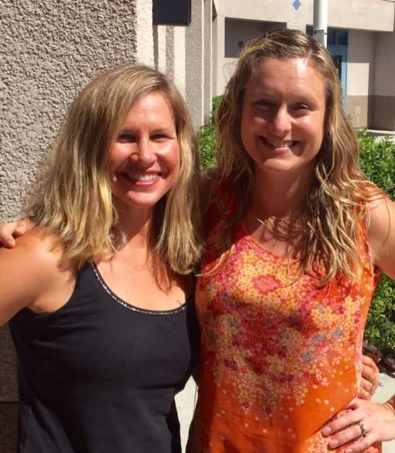 Moms' Club co-founders Colleen Henckels and Leah Anne Borrell.