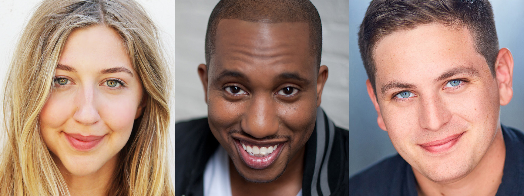 """""""Saturday Night Live"""" has hired comedians Heidi Gardner, left, Chris Redd and Luke Null. (Zeb Wells / Break Out Comedy / iO Theater / Associated Press)"""