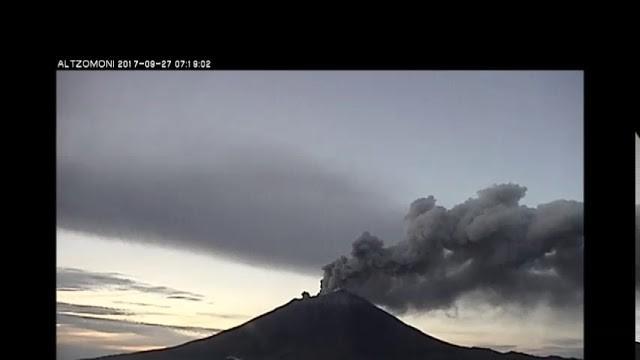 Actividad estromboliana del Volcán Popocatépetl del 27 septiembre 2017