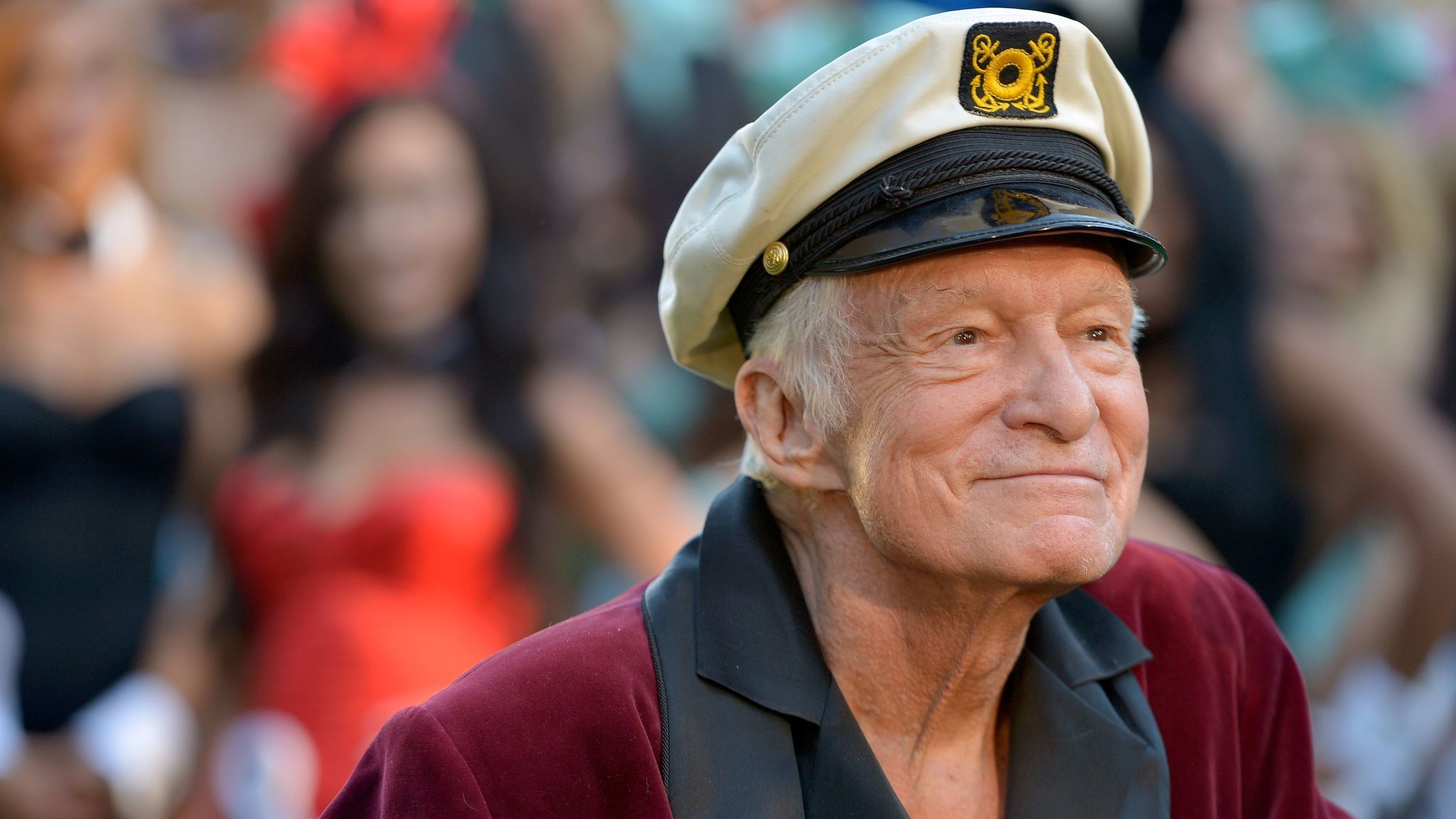 Playboy magazine founder Hugh Hefner died at age 91 on Wednesday at the Playboy Mansion in Los Angeles. He's seen here at Playboy's 60th anniversary celebration in 2014. (Charley Gallay / Getty Images for Playboy)