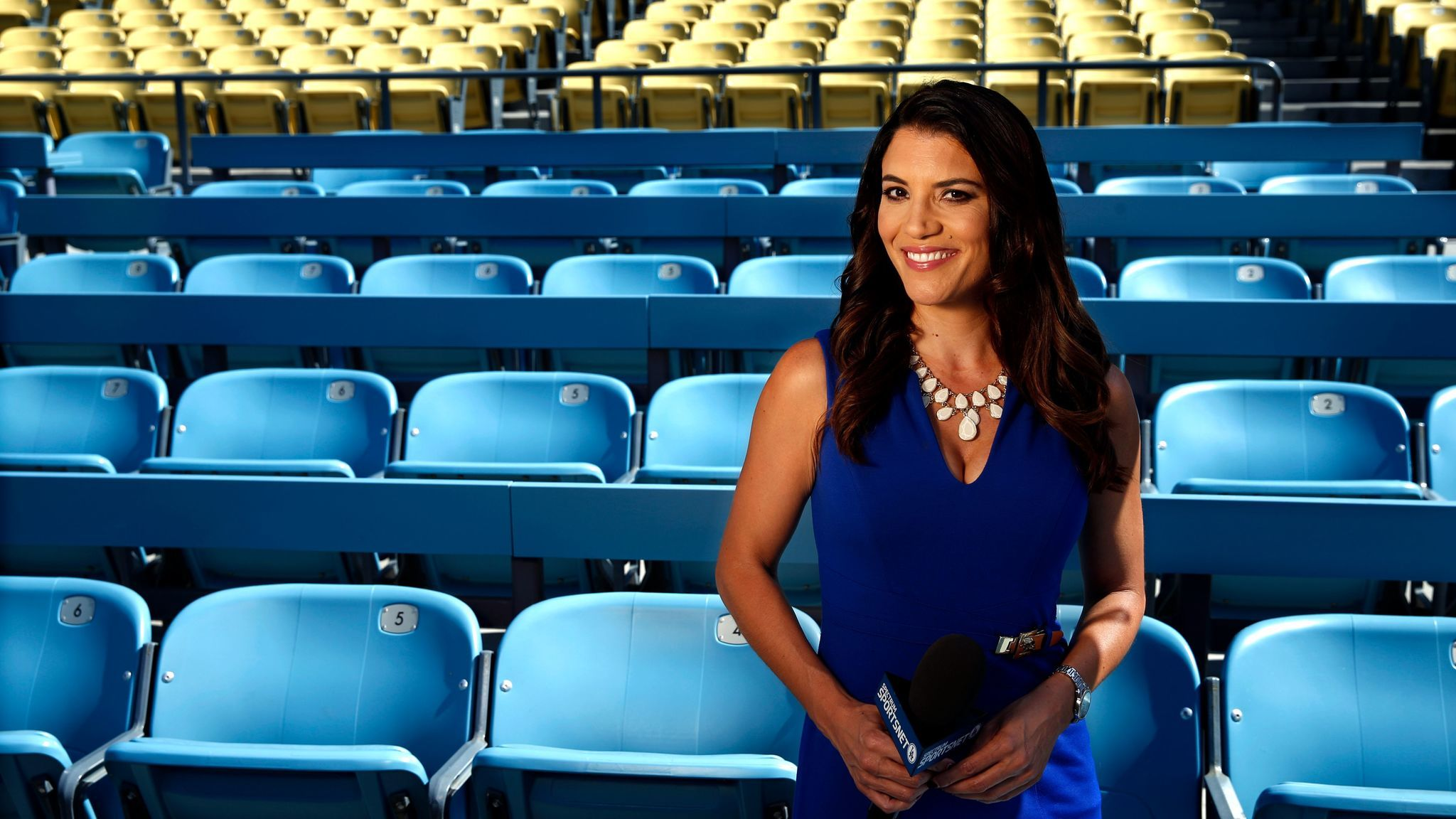 Los Angeles Dodgers broadcaster Alanna Rizzo