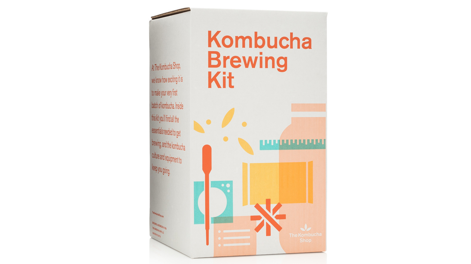 This kombucha kit comes with everything you need to make it at home.