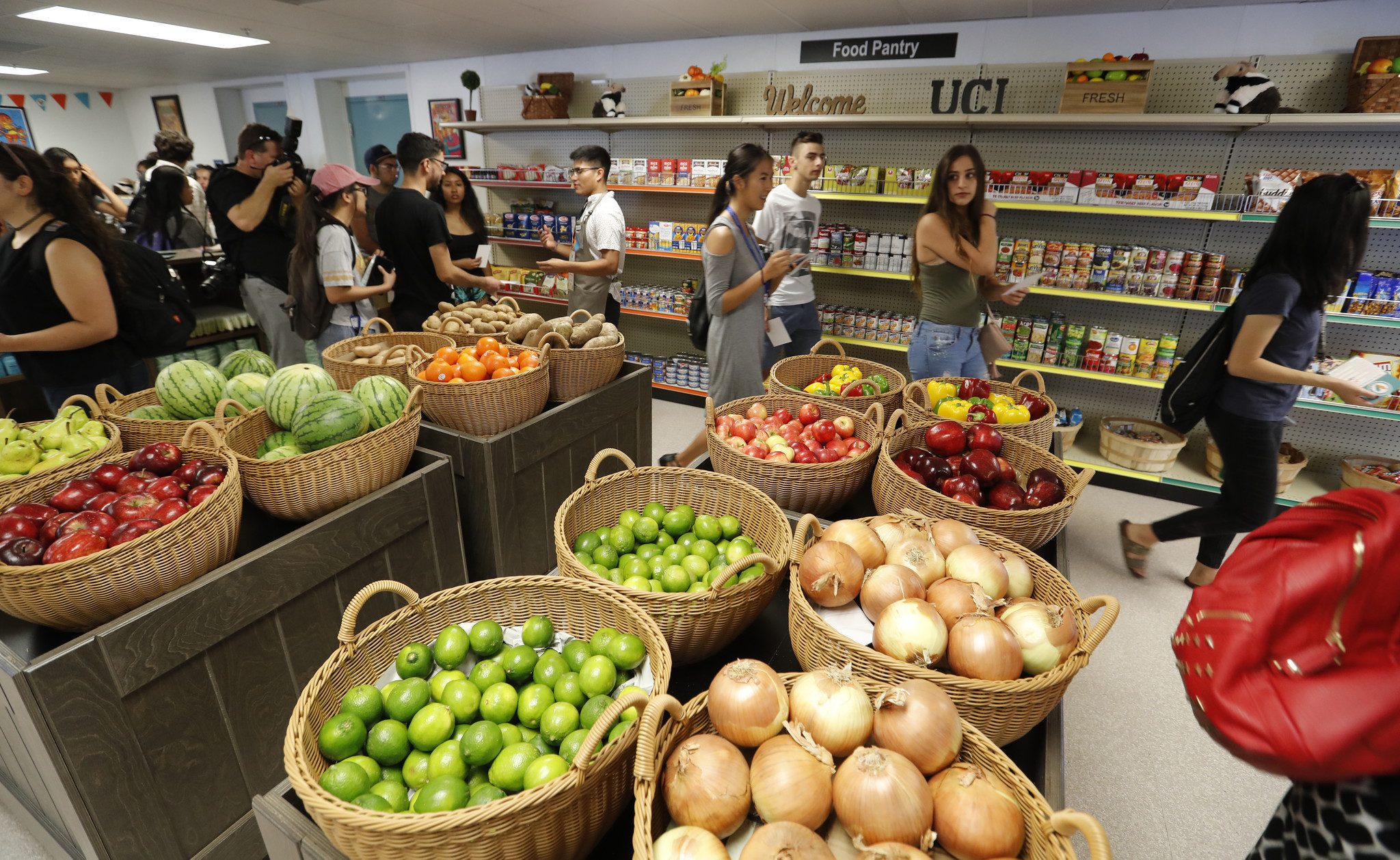 UC Irvine opens expansive food pantry as more college students