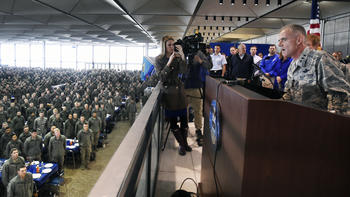 After racial slurs at Air Force Academy, leader delivers powerful speech on race