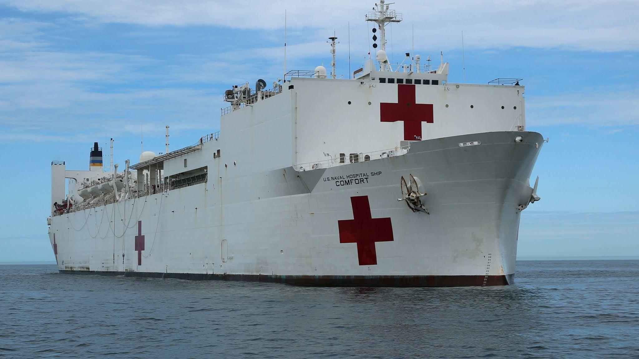 Hospital ship comfort heads to puerto rico daily press stopboris Choice Image