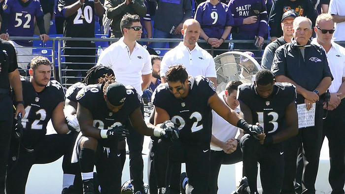 Ravens players on fans booing before anthem