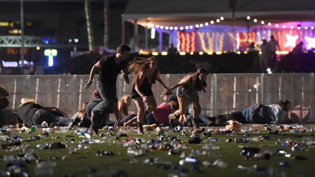 At least 50 dead, 200 injured at shooting on Las Vegas Strip, police say