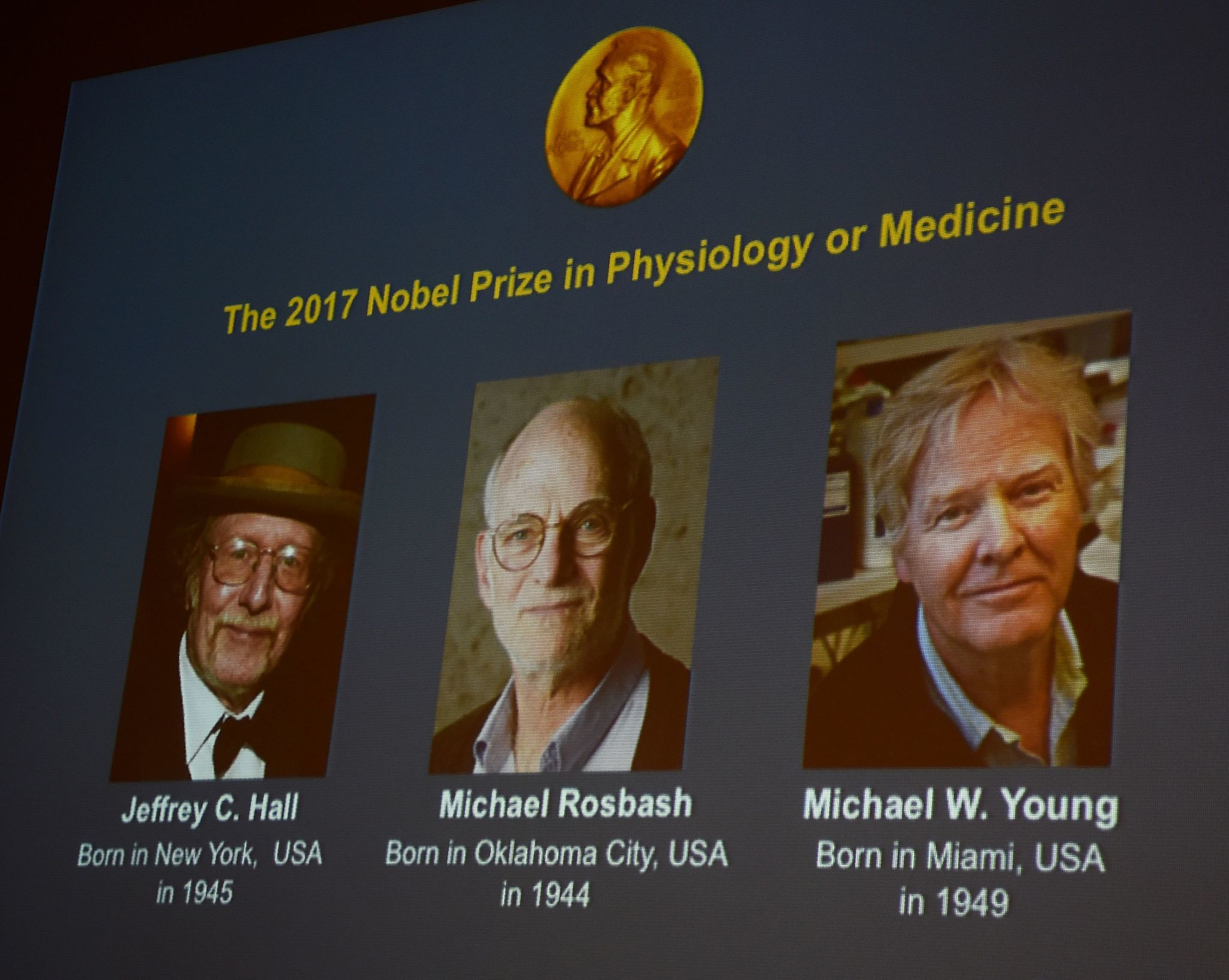 Nobel in physiology, medicine awarded to 3 Americans for discovery of 'clock genes'