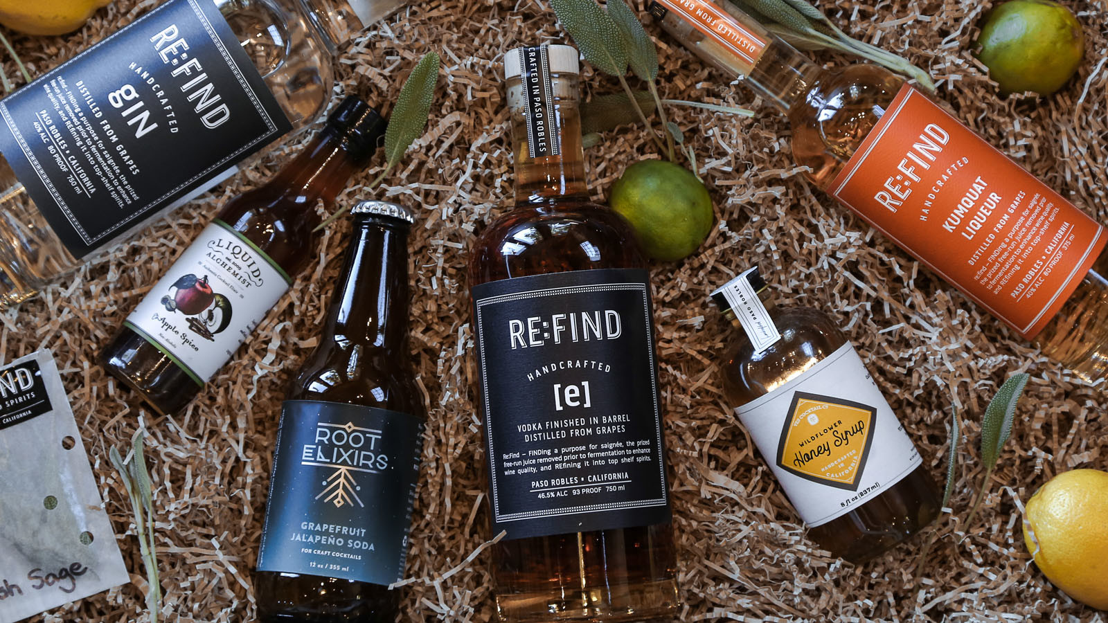 The Re:Find cocktail kit comes with ingredients and recipes for craft cocktails.