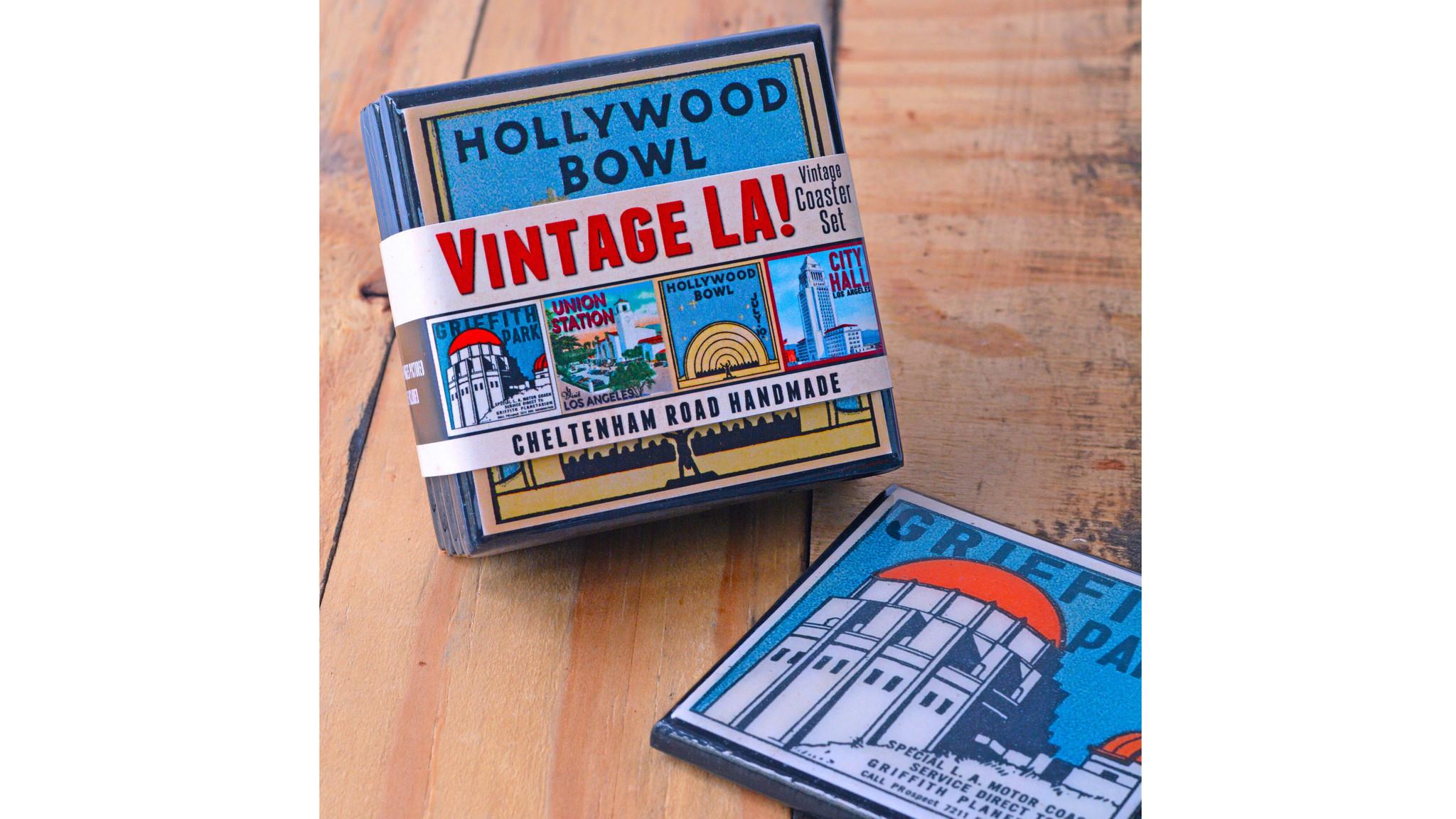 Vintage LA coaster set.
