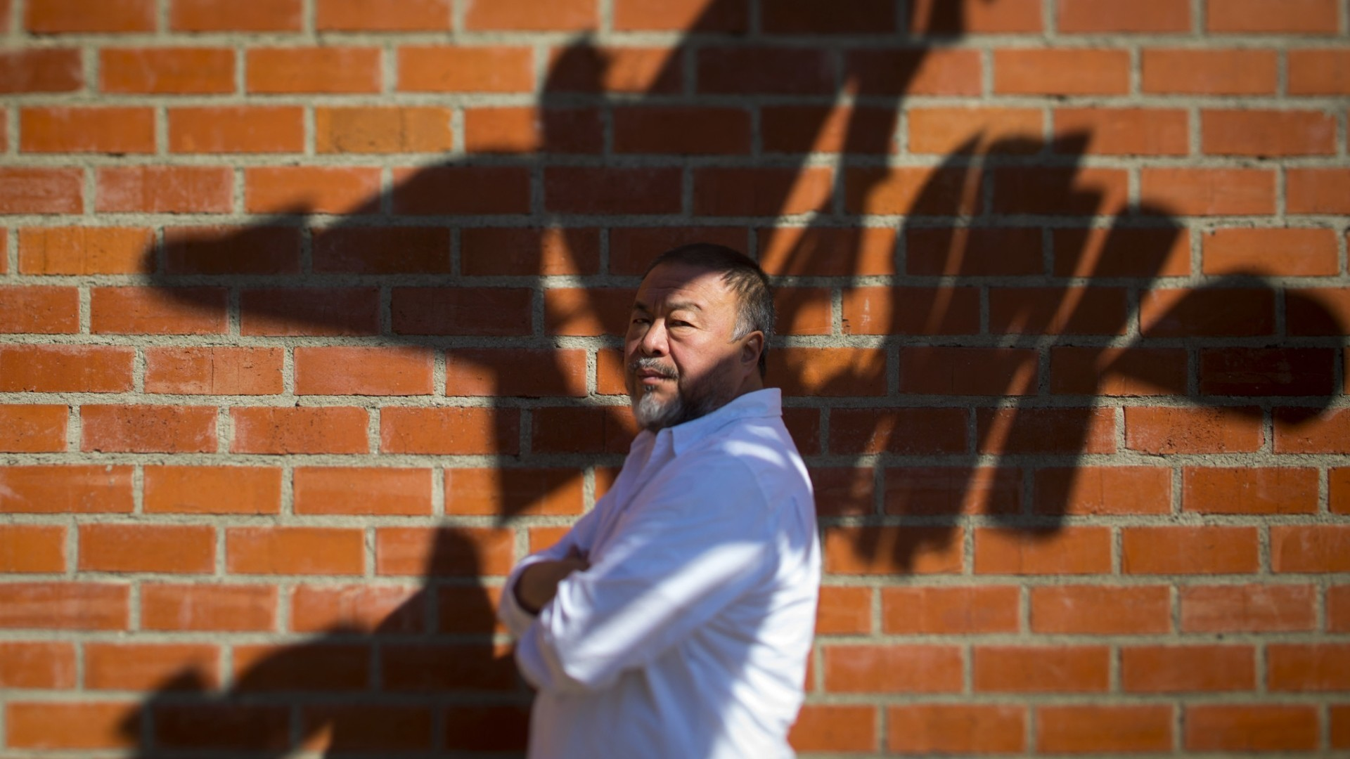 L.A. Times photo shoot with artist Ai Weiwei
