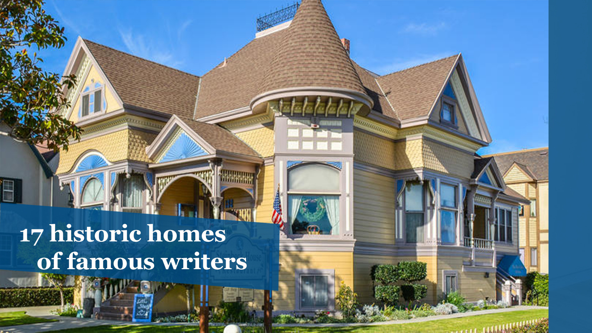 17 historic homes of famous writers