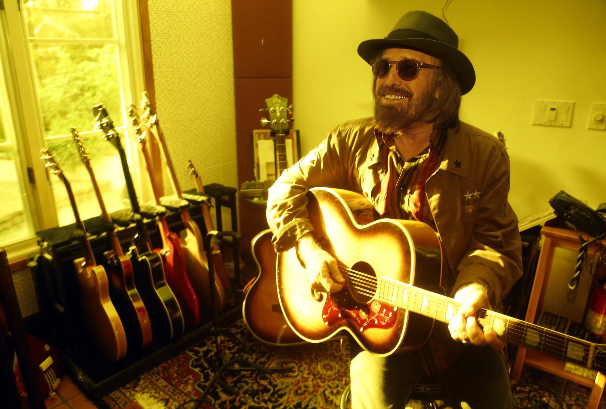 Tom Petty in his home studio.