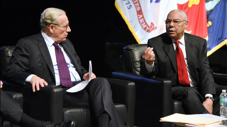 Colin Powell and Bob Woodward headline panel discussion at Naval Academy