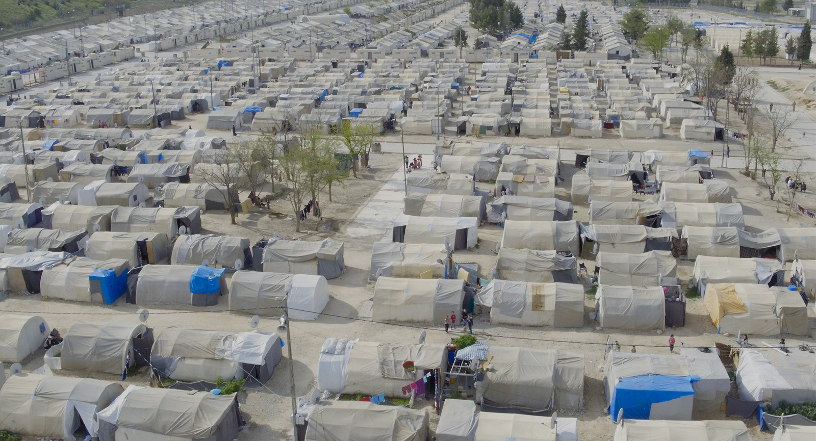 """An aerial drone shot from Ai Weiwei's film, """"Human Flow,"""" shows the Nizip Camp in Gaziantep, Turkey."""