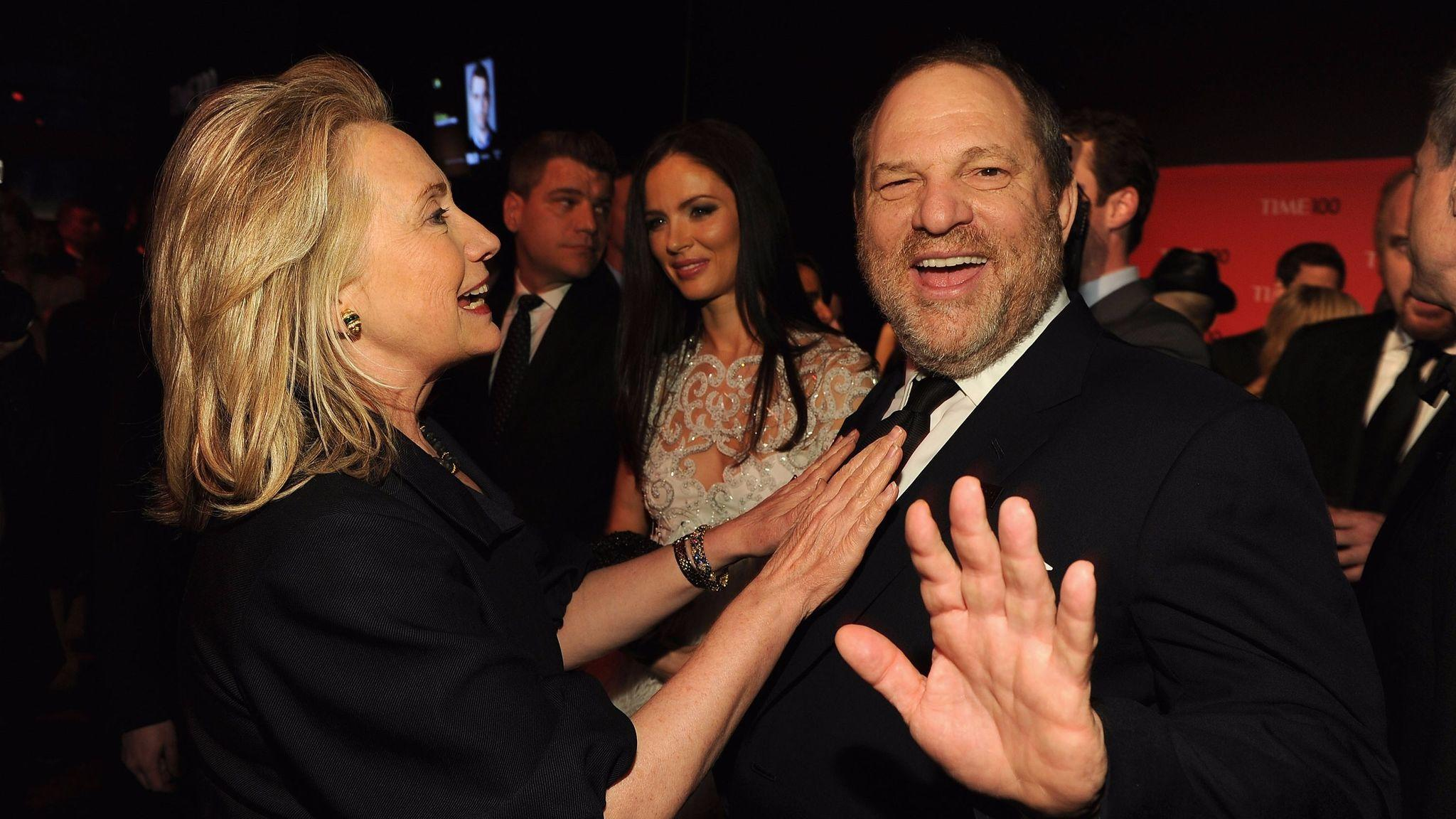 Hillary Clinton and producer Harvey Weinstein at a gala in New York in 2012. (Larry Busacca / Getty Images for Time)