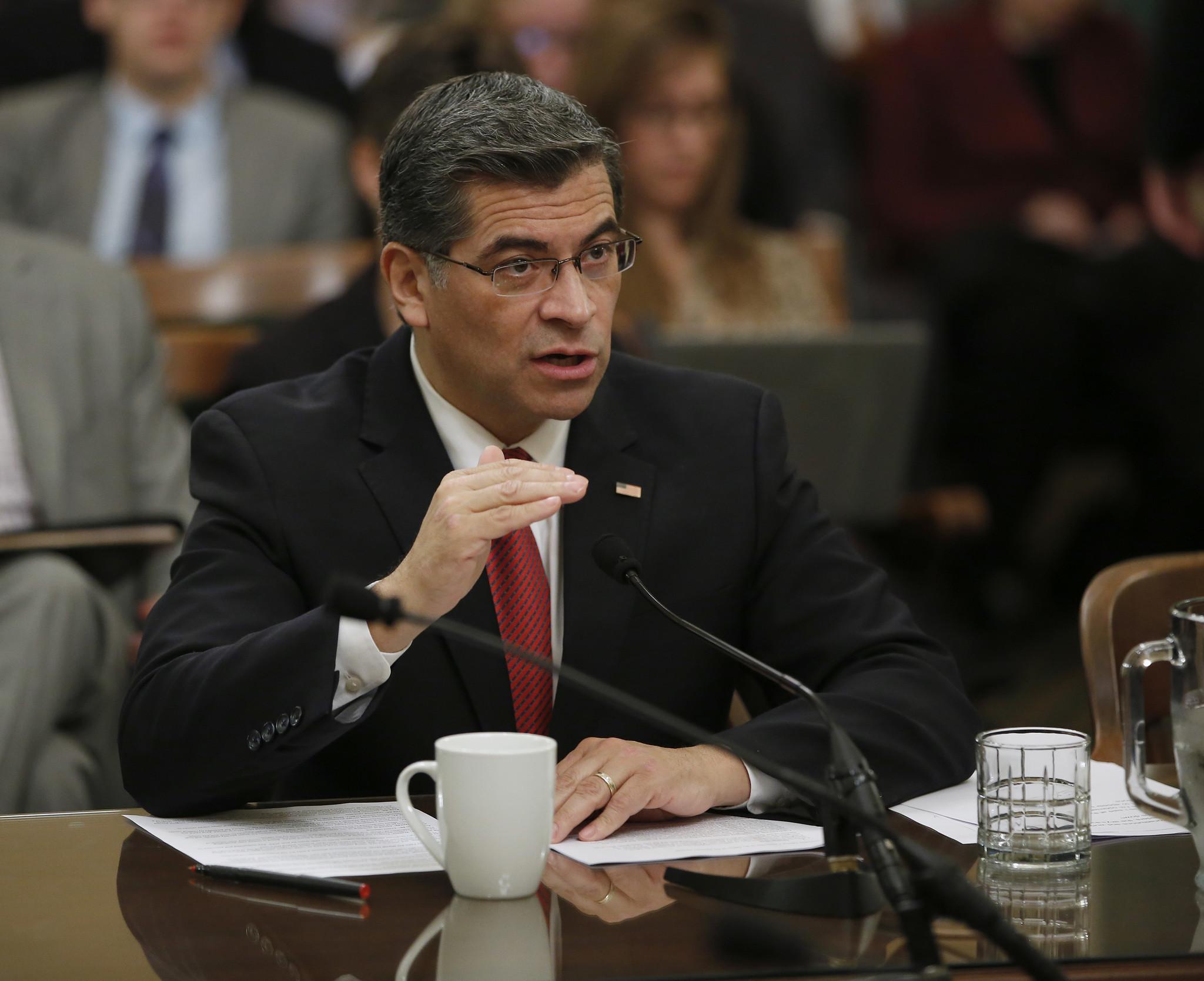 California Atty. Gen. Xavier Becerra (Rich Pedroncelli/Associated Press)