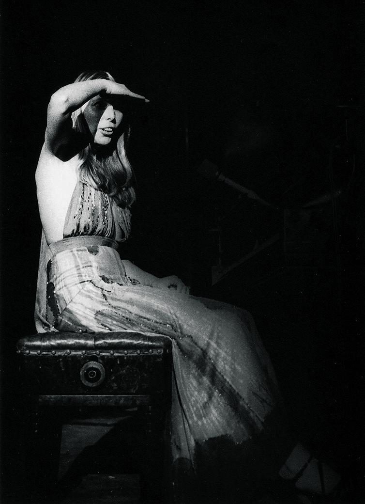 Joni Mitchell at Kleinhans Music Hall, Buffalo, N.Y., Feb. 11, 1974.