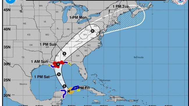 US Gulf Coast braces for fastapproaching Hurricane Nate Sun