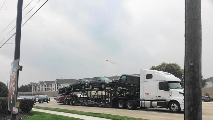 Hijacked car carrier in Naperville