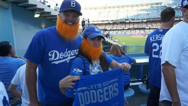 Laura Petersen and Mike Sanders (Mark Potts / Los Angeles Times)