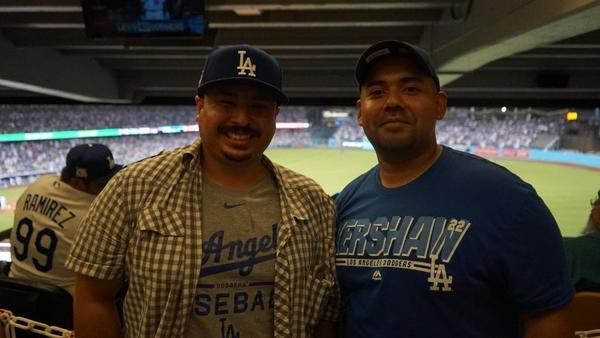 Steven Toro and Omar Hernandez. (Mark Potts / Los Angeles Times)