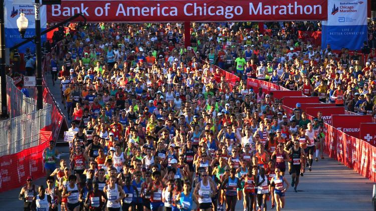 Record number starts Chicago Marathon