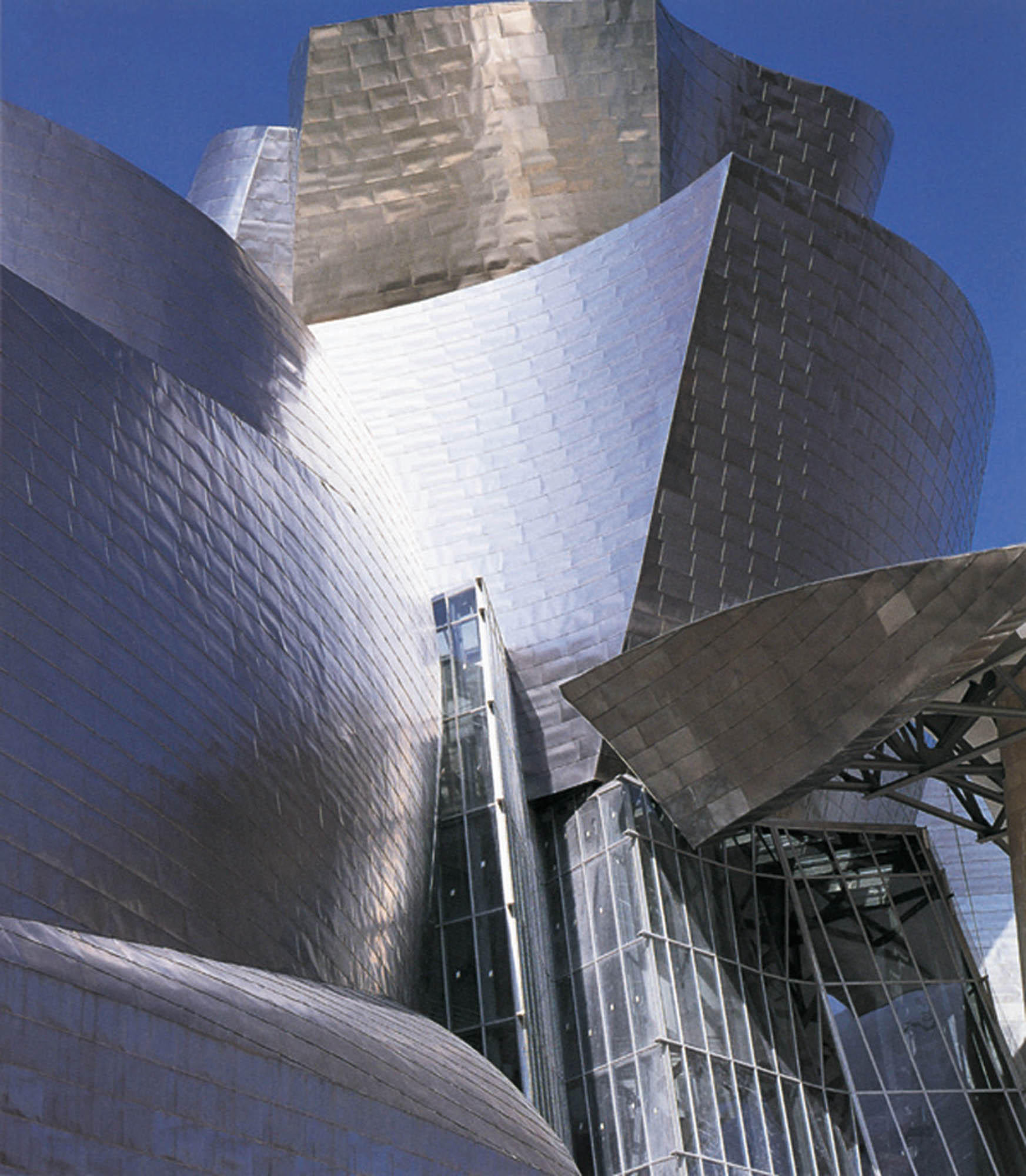 Frank Gehry's design, sheathed in titanium.