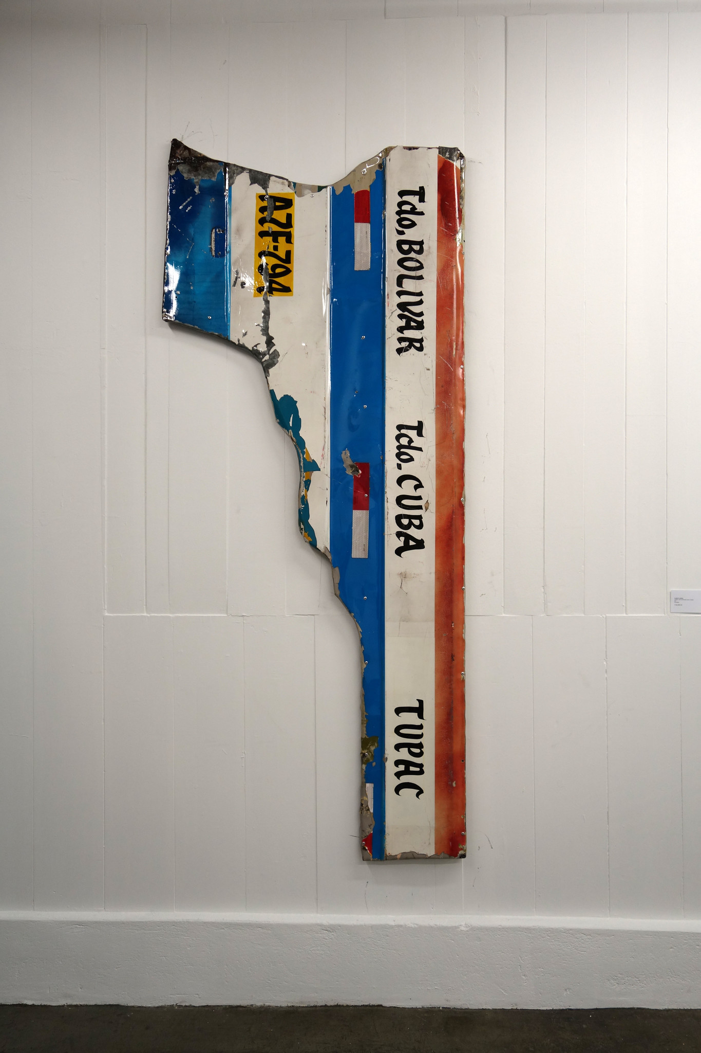 """Peruvian artist Alberto Borea's installation sculpture """"Combis: Tupac Metropolitano, Ciudad,"""" shown by Y Gallery."""