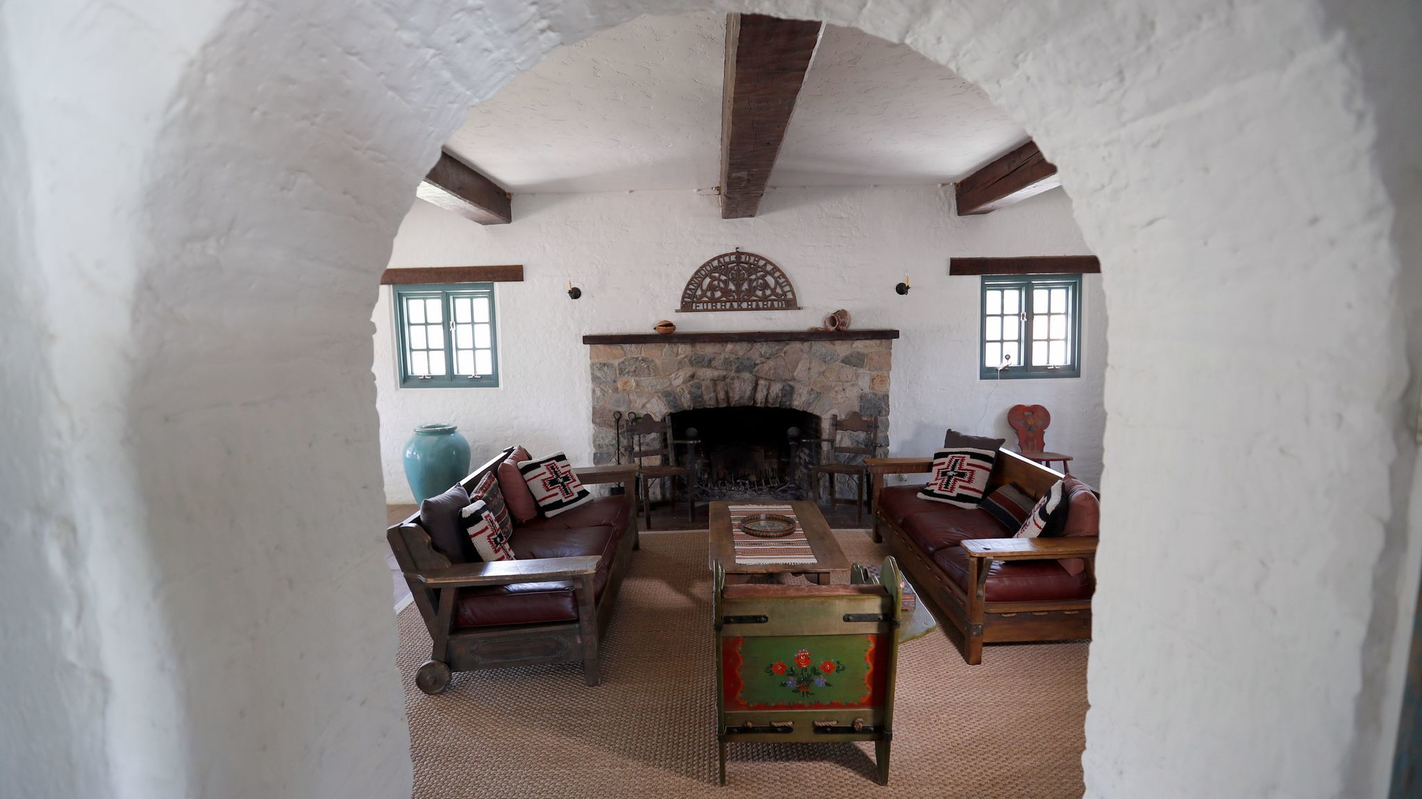 The home features a series of curved arches.