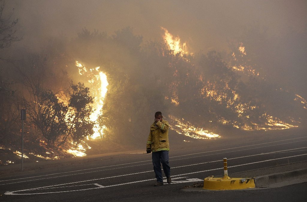 Wind-Driven Fires Burn California Wine Country