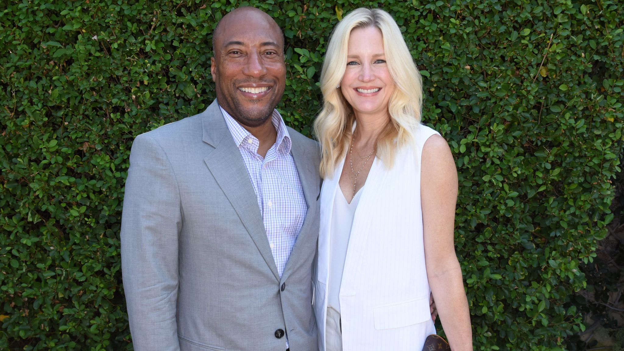 Byron Allen and Jennifer Lucas at the Rape Foundation's annual brunch on Sunday.