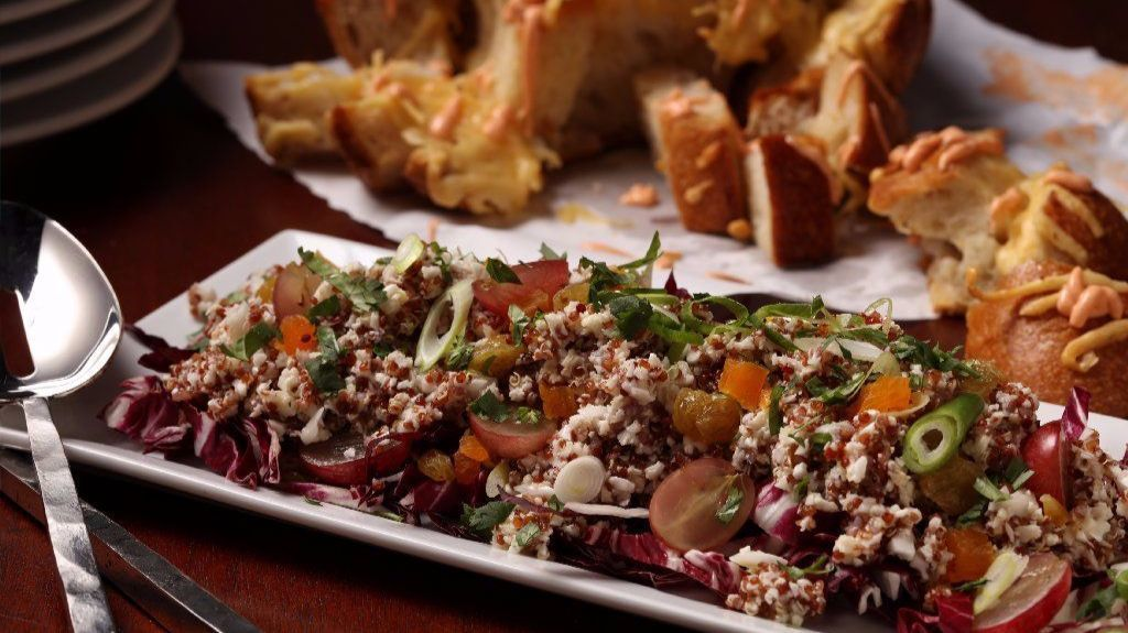 Fall colors enliven salads, plus savory pull-apart bread you need to make now
