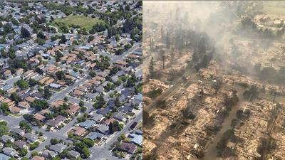Before & After: Subdivision in Santa Rosa destroyed by fire