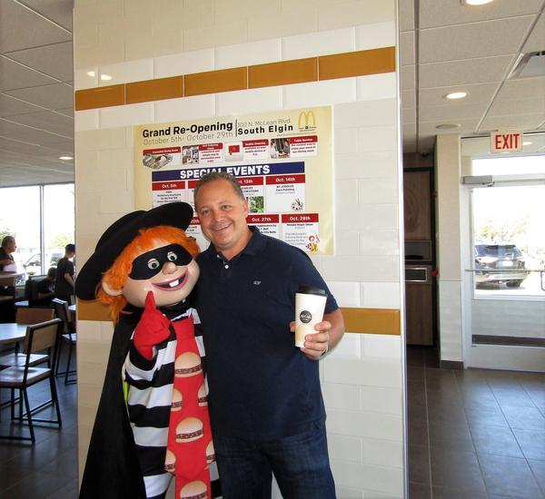Hamburglar at the Newly Remodeled South Elgin McDonald's on McLean Blvd.