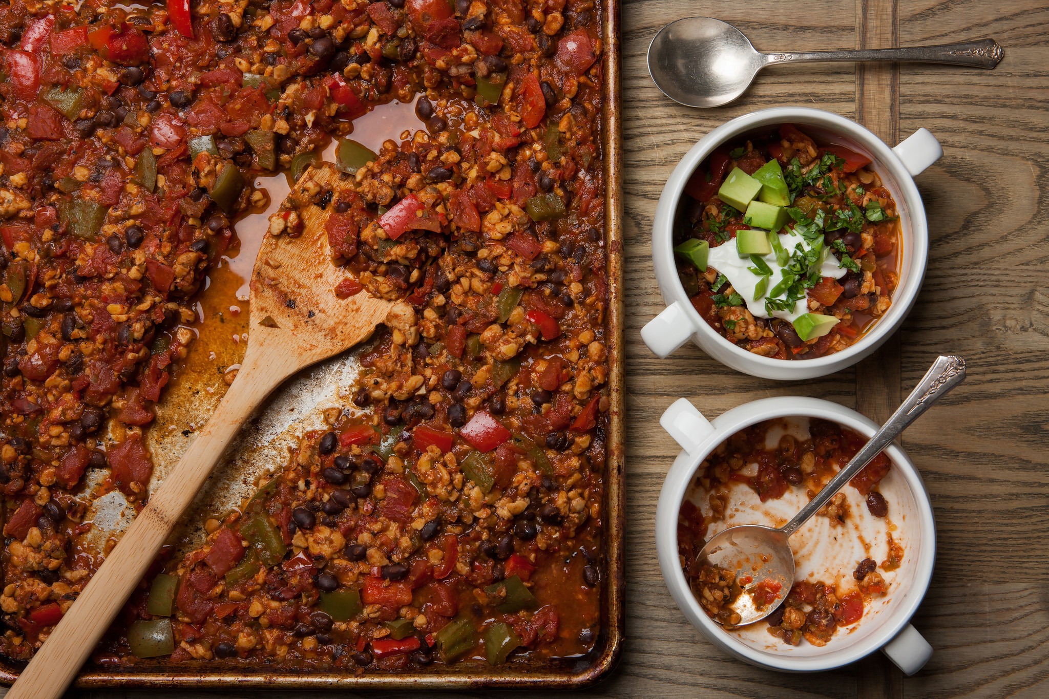 Why make chili in a sheet pan? Flavor.