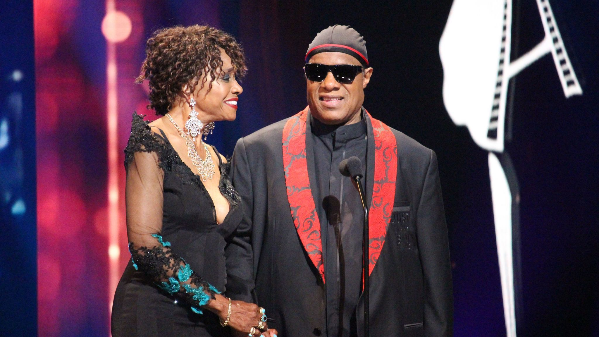 Beverly Todd and Stevie Wonder at Cinémoi's 4th annual CineFashion Film Awards.