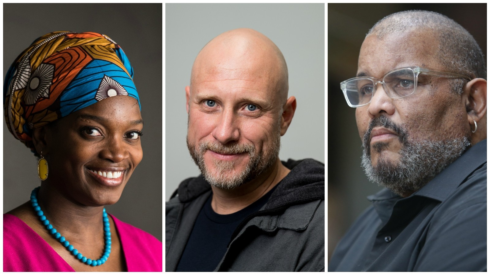 MacArthur fellows, from left: Njideka Akunyili Crosby, Trevor Paglen and Dawoud Bey.