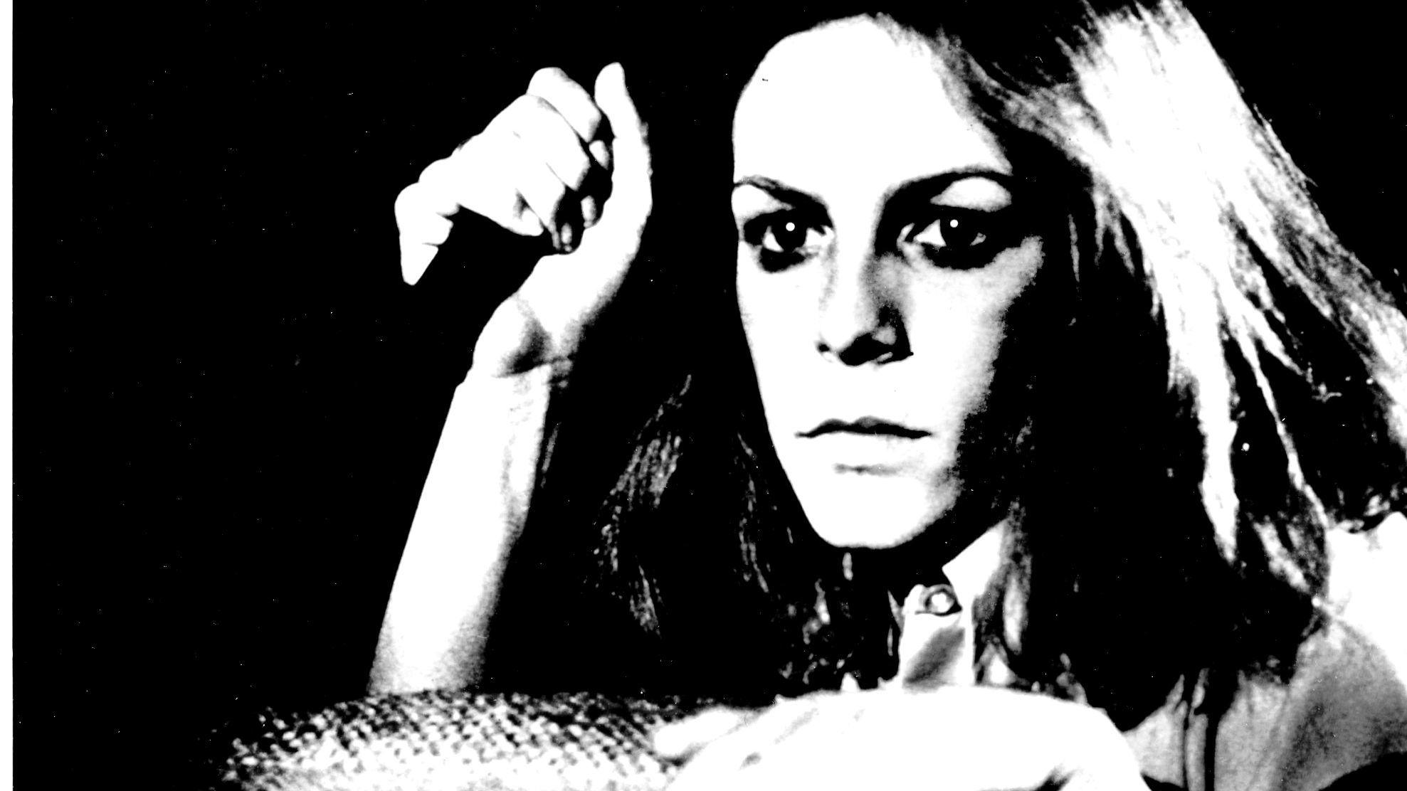 "Jamie Lee Curtis in a scene from director John Carpenter's 1978 horror classic, ""Halloween."" (Associated Press)"