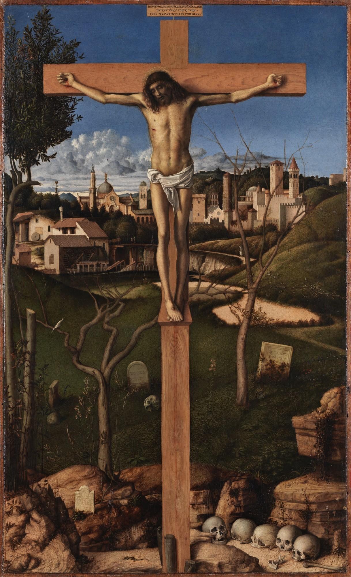 """Giovanni Bellini, """"Crucifixion,"""" circa 1495-1500."""
